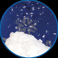 Schnee mit der Schneedusche SnosFALL von Snow-Industries