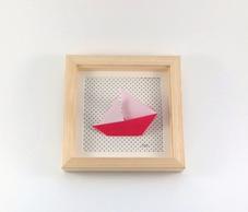cadre mural origami decoration chambre enfant idée cadeau naissance