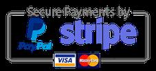 simbol de pagaments segurs Pay Pal i Stripe
