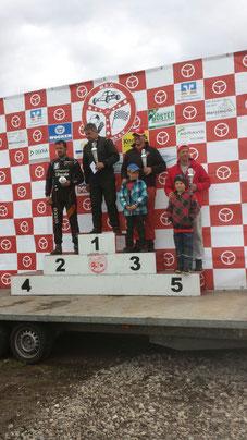 Siegerehrung Jubiläumsrennen MSC Rütenbrock 2016 Klasse 6: Platz 3