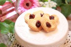 優しさピンクオーガニックチェリーハート米粉クッキー