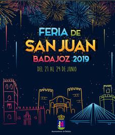 Cartel y programa de la Feria de San Juan 2015 en Badajoz