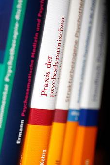 Psychologische Fachliteratur (Foto: Mechthild Stein)