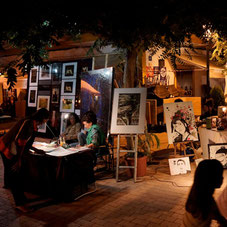 Art Club Vollmond-Nacht in Santa Gertrudis