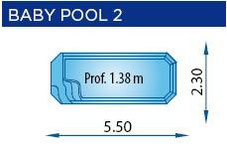 piscina poliester rectangular BABY-POOL2
