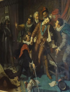 Assassinat d'Henri III. Château de Blois. Source : Laure Trannoy.