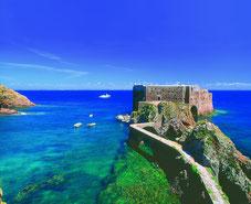 Das Fort São João Baptista auf der Insel Berlengas vor Peniche