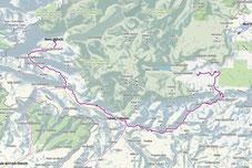 Route Von Boves nach Bohinjska Bistrica