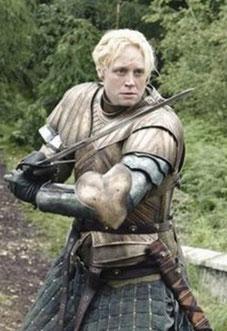 Brienne de Torth (Games of Throne - rôle tenu par Gwendoline Christie)