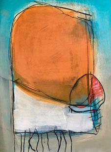 >>Jellyfish<< ,  Acryl auf Papier, 70x100, Erhart