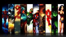 super-héros spiderman superman wonder woman ironman green lantern