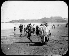 Soleil en Cancer, Bain de Mer à Biarritz.