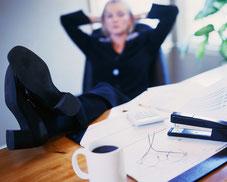 MWS-Buchhaltungsservice, Entspannung, Mitarbeiterin, Pause
