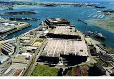 La base de sous marin construite lors de la dernière guerre