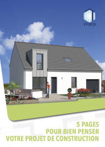 dessin d'une maison avec le titre 5 pages pour bien penser son projet de construction