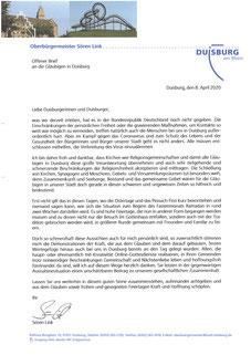 Offener Brief des Oberbürhermeisters Sören Link
