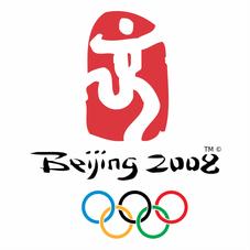 La locandina della XXIX edizione dei Giochi Olimpici del 2008 a Pechino