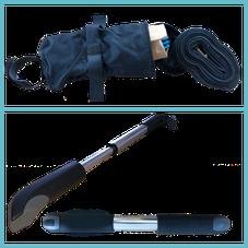 Rennrad-Schlauchreifen-und-Luftpumpe