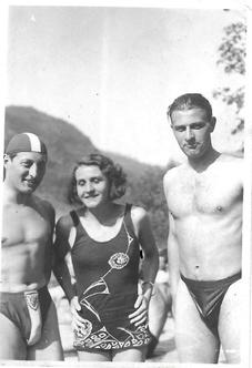 Rudolf Ditmar, Ludovika Sölkner, Alfred Traninger. Foto: Schneeweiss