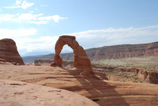 Delicate Arch dans parc national des Arches dans l'Utah