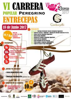 VI CARRERA POPULAR PEREGRINO ENTRECEPAS - Gordoncillo, 18-06-2017