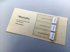 MycoLytics - Probenahmehilfen, Schimmelpilze, Bakterien, Holzzerstörer, Mikroskopie, Kultivierung,  Luft-, Staub-, Materialproben