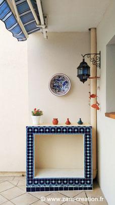 Meuble extérieur mosaïque marocaine - Zam-création