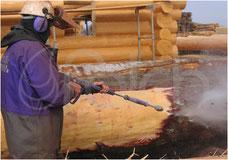 Rinde entfernen Entfernung Hochdruck Höchstdruck Falch