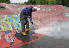 Grafitti Spray Bild entfernen Hochdruck Höchstdruck Falch