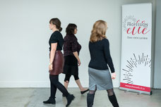 Participants walk during a leadership activity by Profession ' She in Montreal, Quebec taken by Marie Deschene photographer at Pakolla