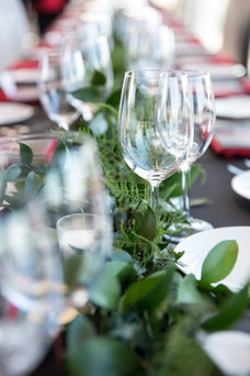 Details of the table glasses during the evening at the Place Ville Marie Summit organized by Tourisme Montréal to promote the city as a major tourist destination photo taken by Marie Deschene photographer for Pakolla