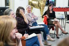 Photographie de participantes à un atelier sur le leadership par Profession'Elle à Montréal au Québec prise par Marie Deschene Pakolla