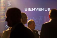 Photo prise pendant le cocktail du congrès annuel de l'Association des Directrices et Directeurs des caisses Desjardins au Fairmont Mont-Tremblant dans les Laurentides prise par Marie Deschene pour Pakolla