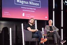 Conférence du chef étoilé Magnus Nilsson au Centre PHI à Montréal pendant le Festival FIKAS de 2017 photo prise par Marie Deschene photographe