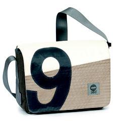 Messenger Bags aus Segeltuch von 360°, 727 Sailbags, NoFish & Canvasco