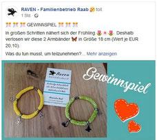Raven-Edelstahlschmuck-Gewinnspiel-Strickarmband-kleine-Schmetterlinge