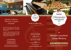 Flyer vorne — Meisterkurs für Klavier 30. Juli - 3. August 2018 in Bad Rappenau auf Schloss Heinsheim