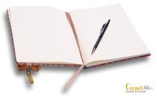 Notizblock  Meran mit Stiftetasche Bologna, offen