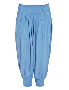 bleue Haremshose in großen Größen , blaue Hose Größe 50