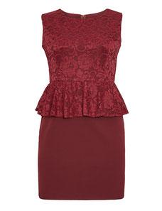 rotes Abendkleid in übergröße , Abendkleid elegant XXL