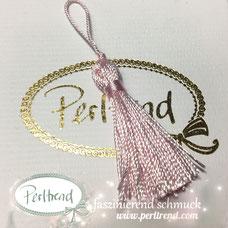 www.perltrend.com Perltrend Schweiz Luzern Perlen Beads Crystals Edelsteine Schmuckzubehör Schmuckverarbeitung Verarbeitungsmaterial basteln Dekoration Quasten rosa pink rose