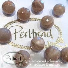 www.perltrend.com Edelsteine Gemstones Steine Perlen Heilsteine Schmuck Schmuckdesign Perltrend Luzern Schweiz Onlineshop  Mondstein Moonstone  Mond Stein beige meliert