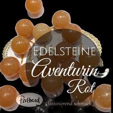 Edelstein Perlen Red Aventurine www.perltrend.com