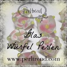 Perlen Glas Würfel www.perltrend.com beads pearls Luzern Schweiz Online Shop