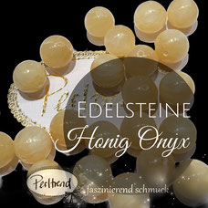 Edelstein Perlen Honey Honig Onyx www.perltrend.com Perltrend Luzern Schweiz  Schmuck Schmuckdesign Edelsteine Gemstones Halbedelsteine Edelsteinperlen Heilsteine gelb hellgelb Achat Onyx Chalcedon