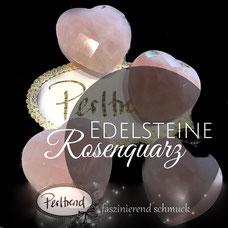 www.perltrend.com Edelsteine Gemstones Steine Perlen Heilsteine Schmuck Schmuckdesign Perltrend Luzern Schweiz Onlineshop Rosenquarz rosa pink