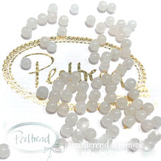 www.perltrend.com Edelsteine Gemstones Steine Perlen Heilsteine Schmuck Schmuckdesign Perltrend Luzern Schweiz Onlineshop Marmor weiss rund Edelsteinperle