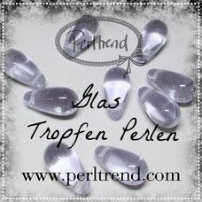 Glas Tropfen Perlen www.perltrend.com beads pearls drops cute süss sweet Luzern Schweiz Online Shop