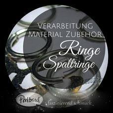 Ringe Spaltringe Schmuckverarbeitung www.perltrend.com