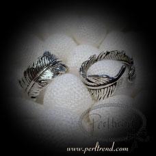 www.perltrend.com Fingerschmuck antiksilberfarben